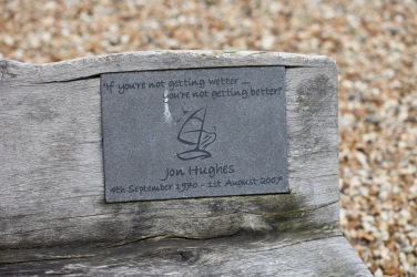 Memorial plaque Jon Hughes