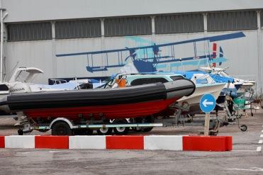 Boats beside Sunderland hangar