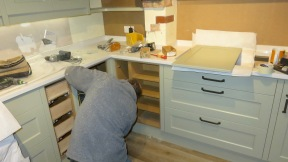 Richard measuring cupboards