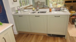 Sink and cupboards