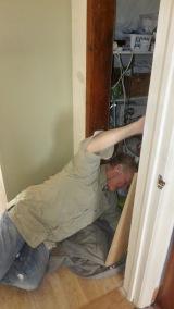 Richard fitting cupboard door