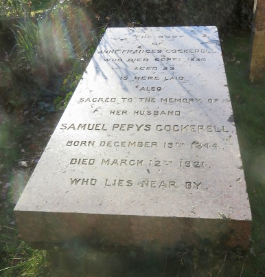 Gravestone of Anne Frances Cockerell