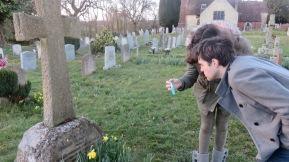 Dillon and Flo at Conan Doyle's grave