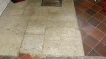 Gravestone paving