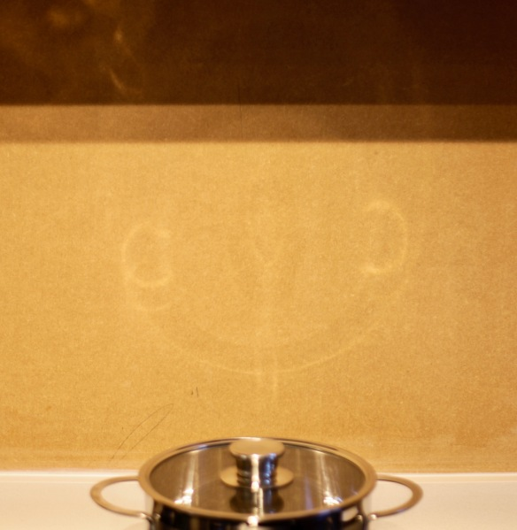Smiley saucepan face