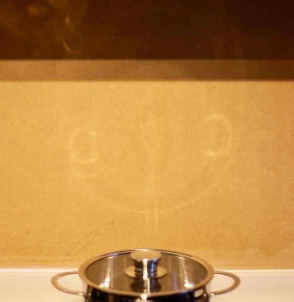 Smiley saucepan face