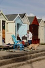 Beach hut conversation