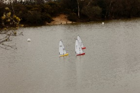 Setley Pond model yacht racing