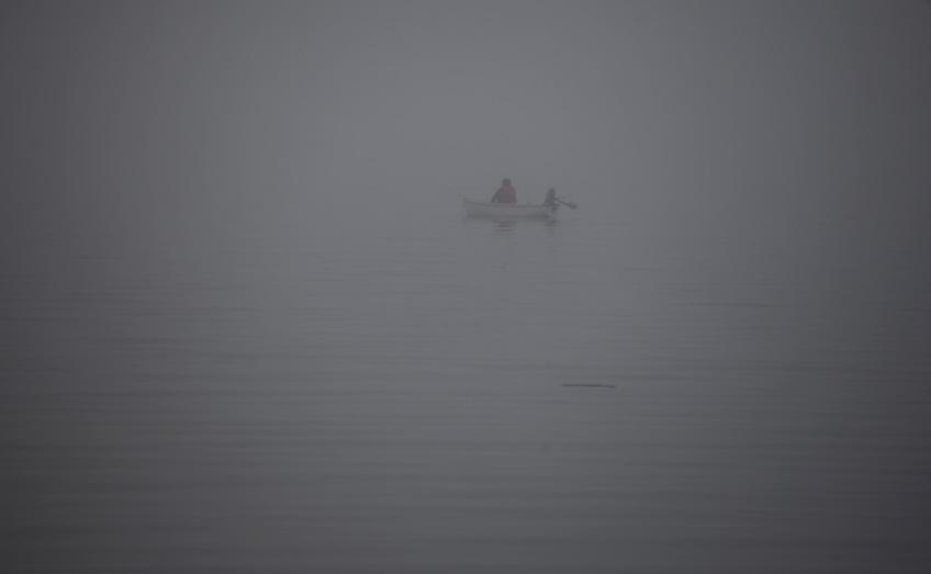 Boat in mist