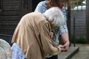 Elizabeth helping Mum