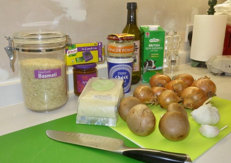 Biriani ingredients