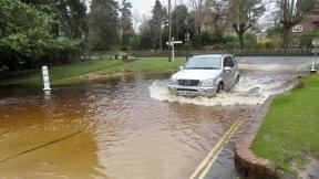 Car going through ford