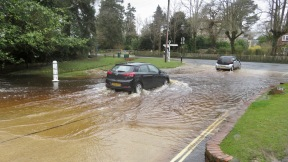 Cars going through ford