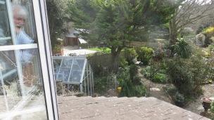 Derrick taking garden view from above