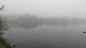 Lymington River in mist