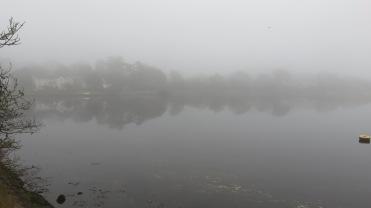 Lymington River in mist