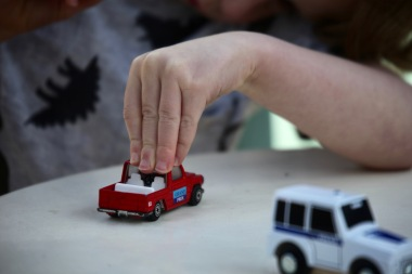 Billy's hand with car