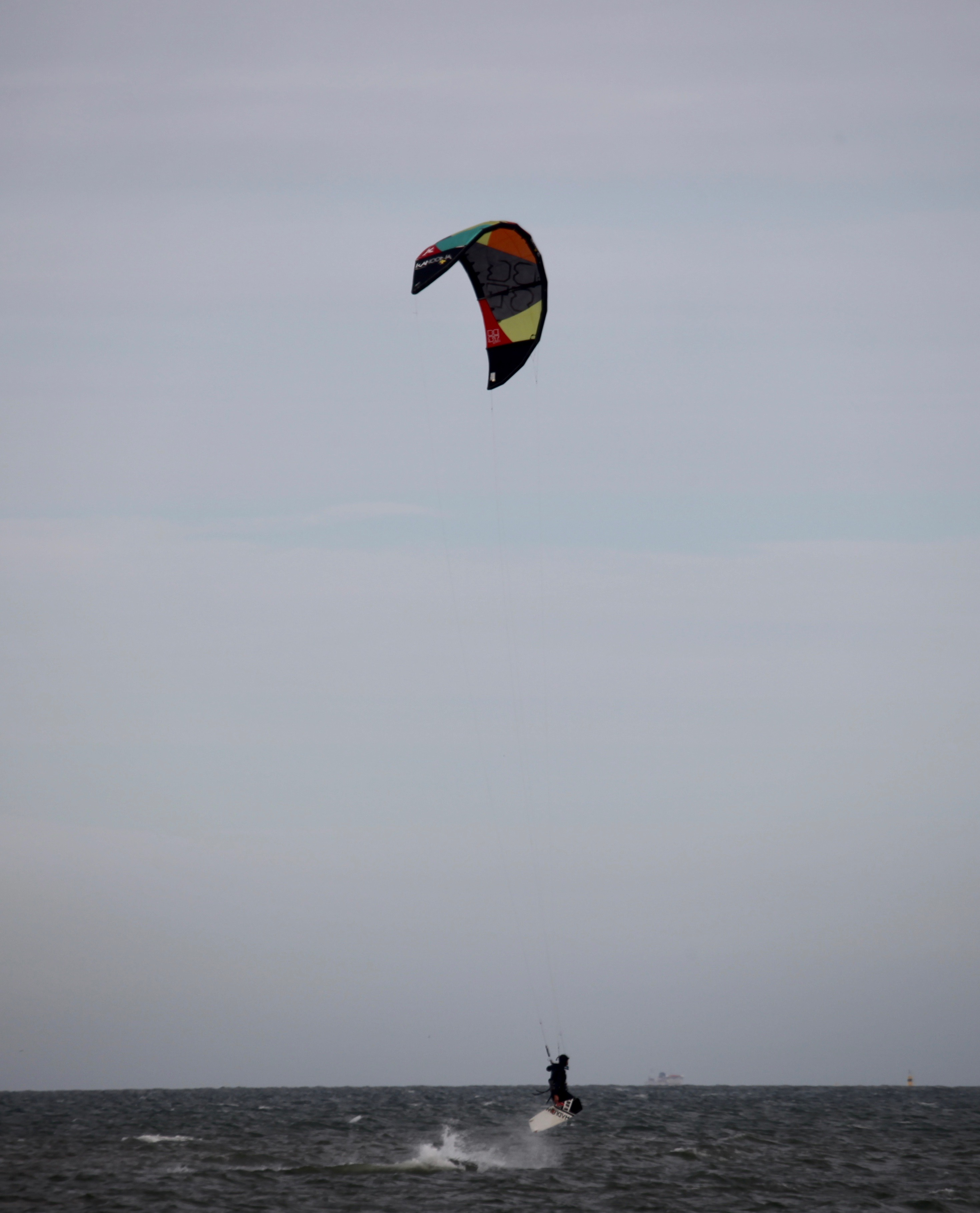 Wind surfer in air