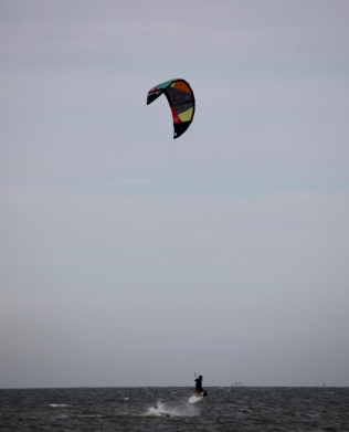 Wind surfer in air