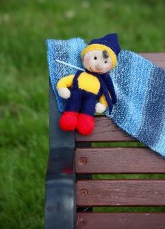 Noddy on bench