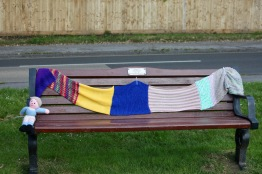 Bench decorated