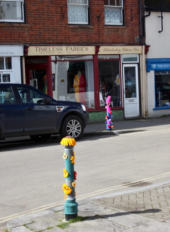 Bollards decorated
