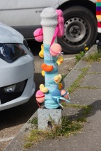 Bollard decorated