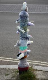Seabirds on bollard