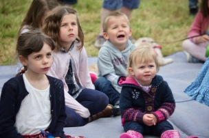 Children watching Punch and Judy