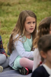 Child watching Punch and Judy