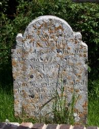 Gravestone John and Ann White