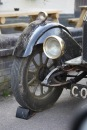 Morris Cowley headlamp, wheel, chock