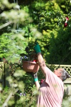 Jackie fixing hanging basket