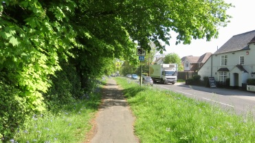 Footpath and grass verge