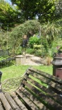 View from Nottingham Castle Bench to Gazebo