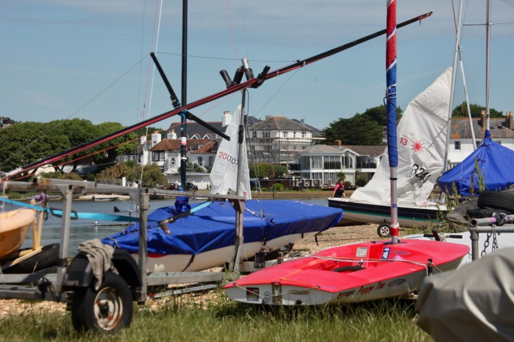 Dinghies parked