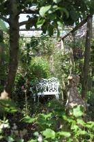 Rose Garden white bench