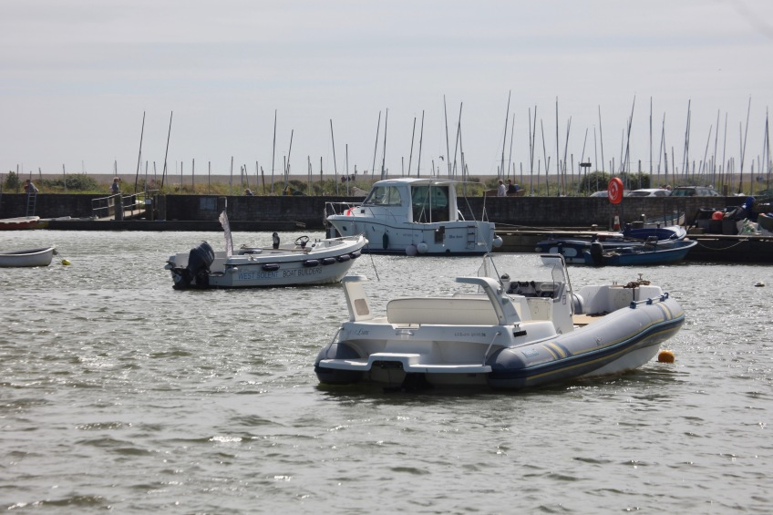 Boats in Keyhaven Harbour