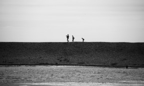 Silhouettes on Hurst Spit