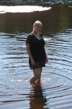 Young woman in Eyeworth Pond