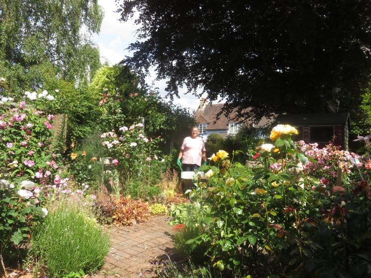 Jackie in Rose Garden