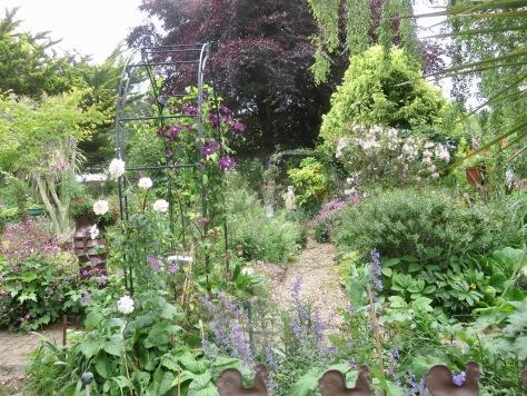 Garden view from Westbrook Arbour