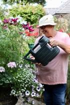Jackie watering iron urn