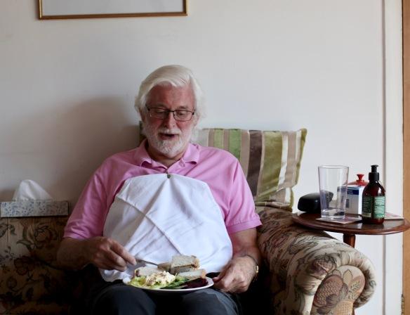 Derrick with napkin holder
