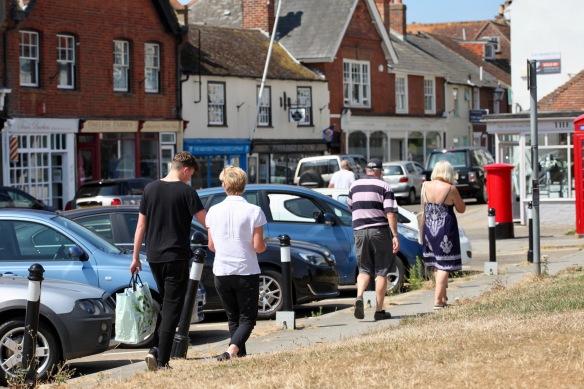 Walkers along High Street