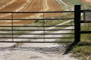 Farm Gate and shadow, Longford Farms Ltd