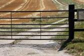 Farm Gate and shadow, Longford Farms Ltd
