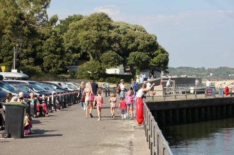 People on promenade