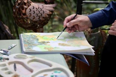 John's painting hand