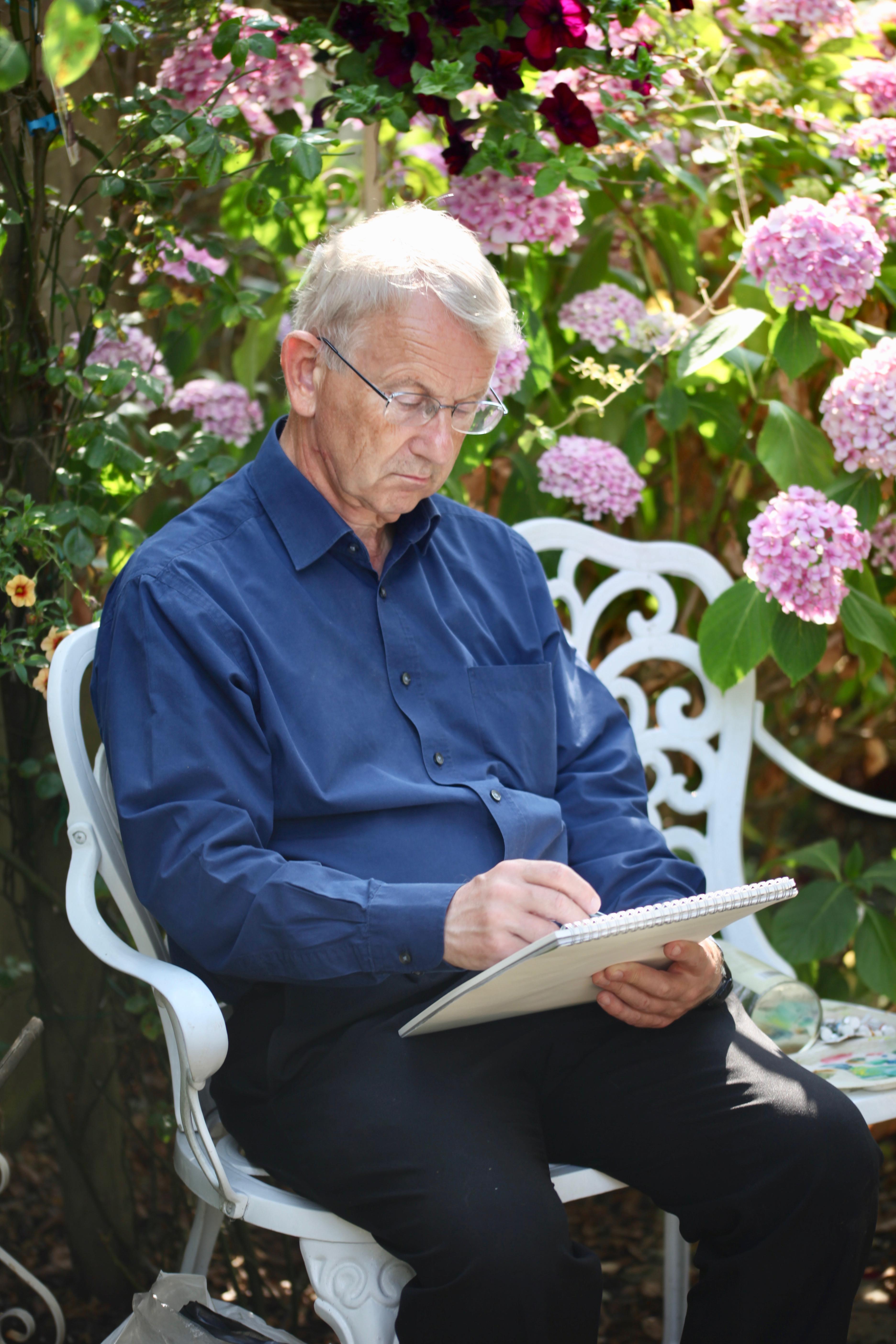 John Jones in Rose Garden